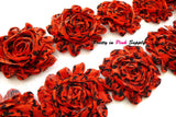 Red Black Damask Shabby Rose Trim - Pretty in Pink Supply