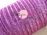"3/8"" Pink Glitter Elastic - Pretty in Pink Supply"