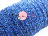 "3/8"" Royal Blue Glitter Elastic - Pretty in Pink Supply"