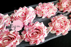 Light Pink Heart Crush Shabby Rose Trim - Pretty in Pink Supply
