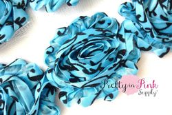 Blue Black Damask Shabby Flowers - Pretty in Pink Supply