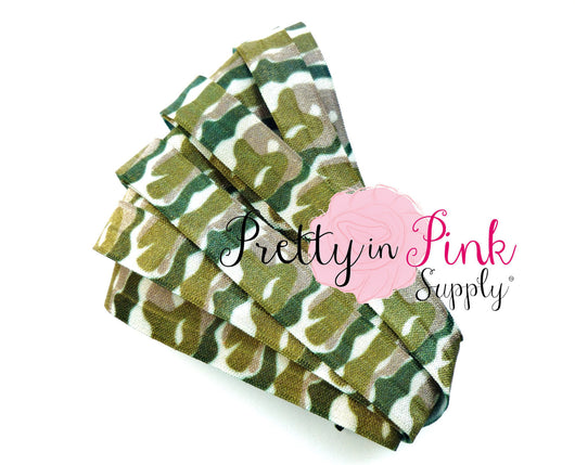 Camouflage Print Elastic - Pretty in Pink Supply