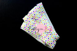 Party Dot Print Elastic - Pretty in Pink Supply