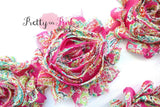 HOT PINK PAISLEY Shabby Rose Trim - Pretty in Pink Supply