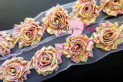 Yellow Paisley Shabby Rose Trim - Pretty in Pink Supply