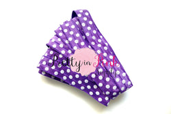 Purple White Dot Print Elastic - Pretty in Pink Supply