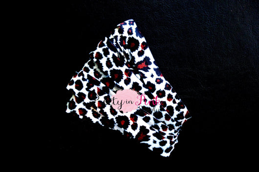 Cheetah Leopard Print Elastic - Pretty in Pink Supply