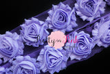 Lavender Shabby Rose Trim - Pretty in Pink Supply