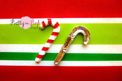 Candy Cane Metal Embellishment