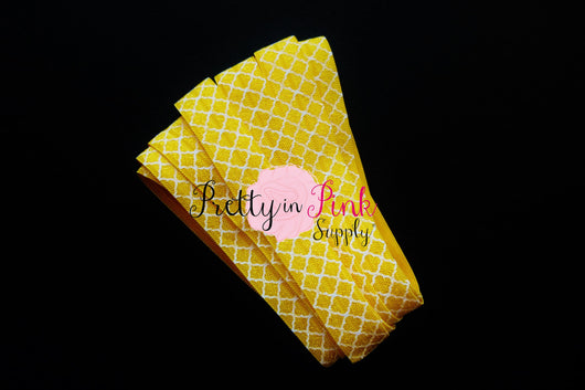 Yellow Lattice Elastic - Pretty in Pink Supply