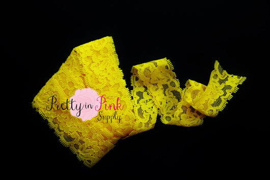 Yellow Lace Elastic 1.25