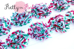 Christmas Chevron Shabby Rose Trim - Pretty in Pink Supply