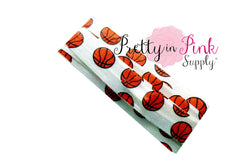 Basketball Print Elastic - Pretty in Pink Supply