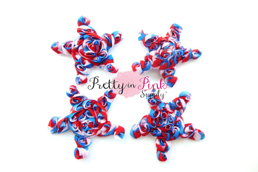 July 4th Mini Rosette Tri-Color Stars - Pretty in Pink Supply
