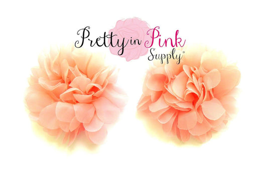 Pale Peach Organza Flower - Pretty in Pink Supply