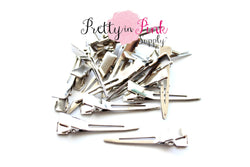 Single Prong Bare Alligator Clips - Pretty in Pink Supply