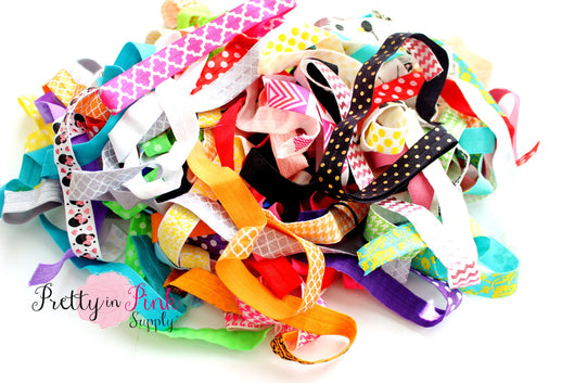 GRAB BAG Print Elastics - Pretty in Pink Supply