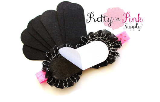 Black Felt Bars- Self Adhesive - Pretty in Pink Supply