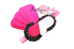 Hot Pink Felt Bars- Self Adhesive - Pretty in Pink Supply