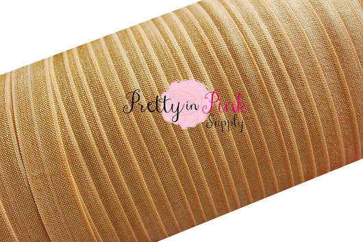 Antique Gold Fold Over Elastic - Pretty in Pink Supply