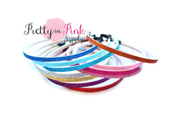 Glitter Lined Thin Headband - Pretty in Pink Supply