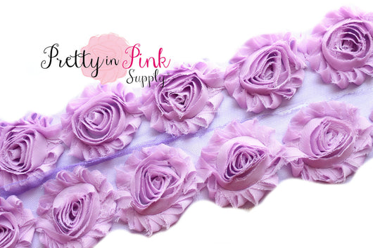Lilac Shabby Rose Trim - Pretty in Pink Supply