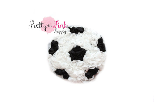 Rosette Soccer Ball Trim - Pretty in Pink Supply