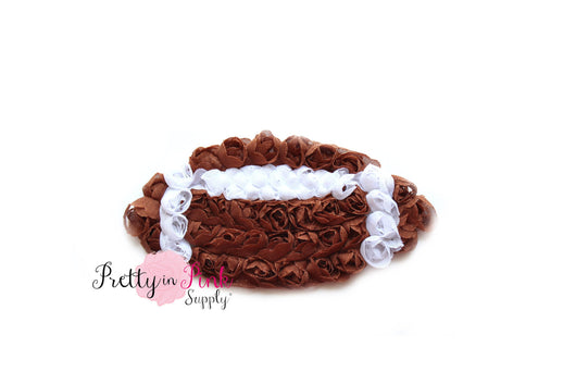 Rosette Football Trim - Pretty in Pink Supply