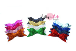 Thin Glitter Bows - Pretty in Pink Supply