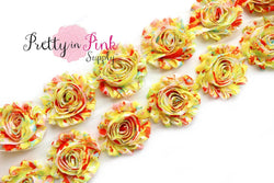 Yellow Blooming Garden Shabby Rose Trim - Pretty in Pink Supply