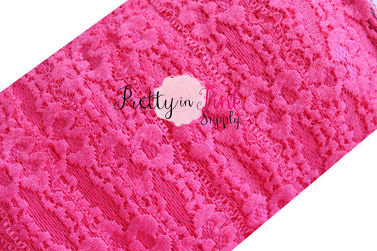 Hot Pink Lace Elastic 1