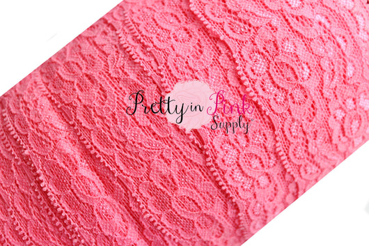 Coral Rose Lace Elastic 2