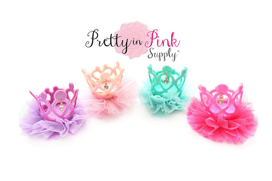 Jeweled Ballerina Felt Crowns - Pretty in Pink Supply
