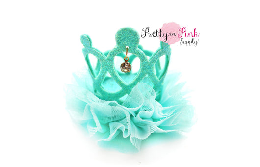 Aqua Jeweled Ballerina Felt Crown - Pretty in Pink Supply