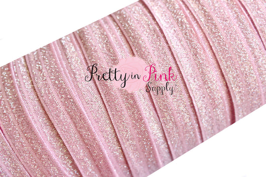 Silver Sparkle on Light Pink FOE - Pretty in Pink Supply