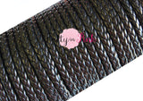 Black Braided Leather Cord - Pretty in Pink Supply