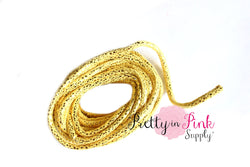 Gold Rounded Suede Cord - Pretty in Pink Supply