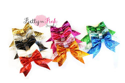 Cheer Glitter Bows - Pretty in Pink Supply