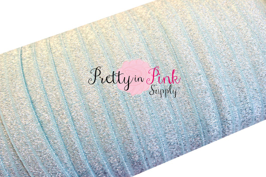 Silver Sparkle on Baby Blue FOE - Pretty in Pink Supply
