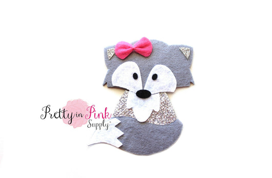 Grey FOX Felt/Glitter - Pretty in Pink Supply