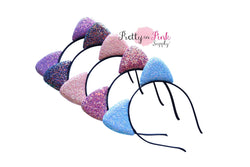 Chunky Glitter Cat Ear Headbands