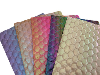 Quilted Metallic SCALE Puffer Canvas Sheets