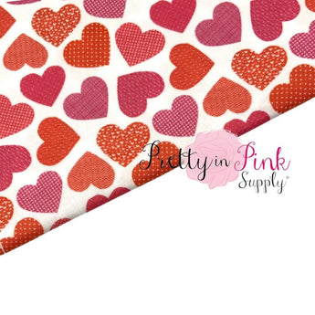 Patterned Heart | 100% Cotton Fabric - Pretty in Pink Supply