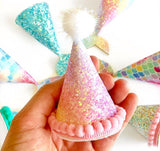 "3.5"" CHUNKY Glitter Party Hat"