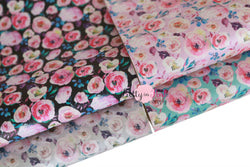 NEW Wild Floral Soft Faux Leather Fabric Sheets