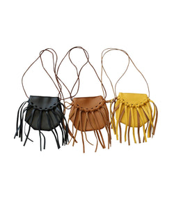 Leather Fringe Pocket Purse