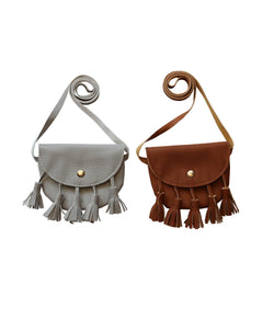 Leather Tassel Purse