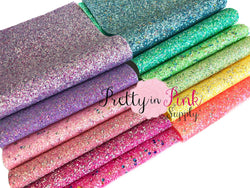 SEQUIN Chunky Glitter CANVAS Sheets
