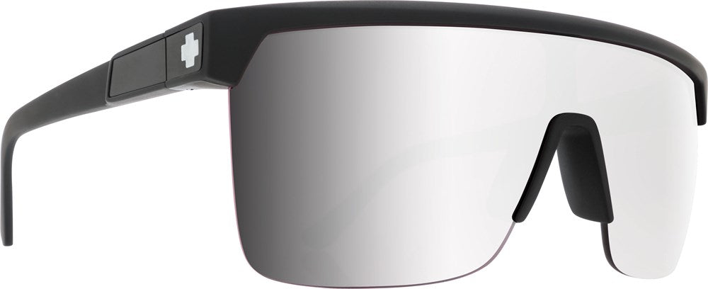 SPY Sunglass Flynn 5050 - Matte Black - HD Plus Rose w/ Silver Spectra Mirror