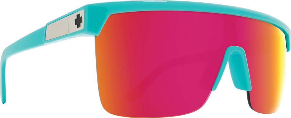 SPY Sunglass Flynn 5050 - Teal - HD Plus Grey Green w/ Pink Spectra Mirror